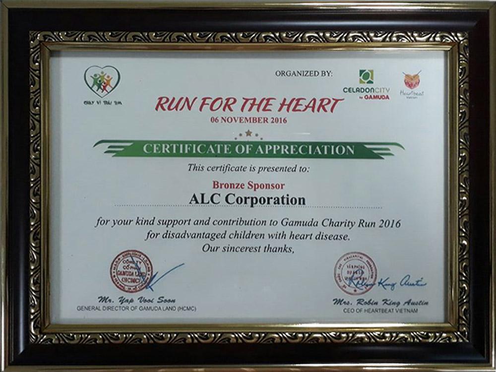 """ALC tài trợ chương trình """"Chạy vì trái tim 2016"""""""